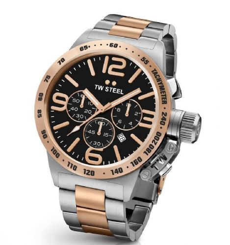 TW STEEL Canteen 50mm Two-tone Rose Gold Chronograph Gents Watch CB134
